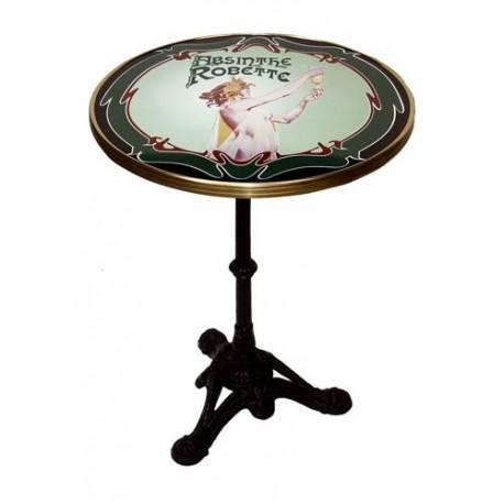 Table de bistrot émaillée - Absinthe - Absinthe Robette