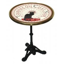 Table de bistrot émaillée - Tournée du Chat noir
