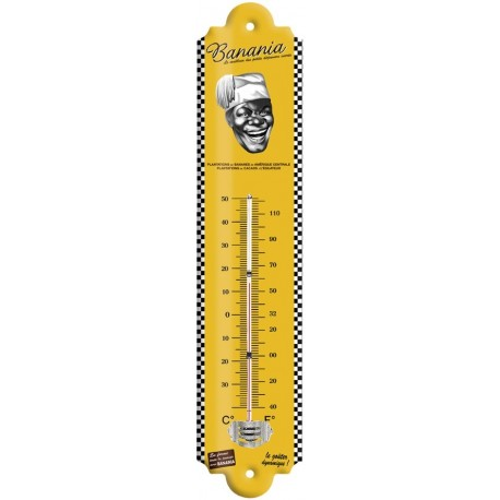 Thermomètre - Tête Tirailleur noir et blanc - Banania