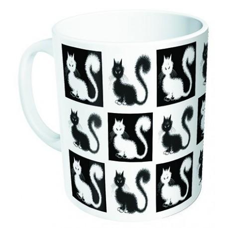 Mug - Damier - Chats Dubout